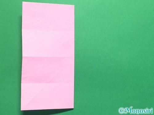 折り紙で立体的なバラの作り方手順16