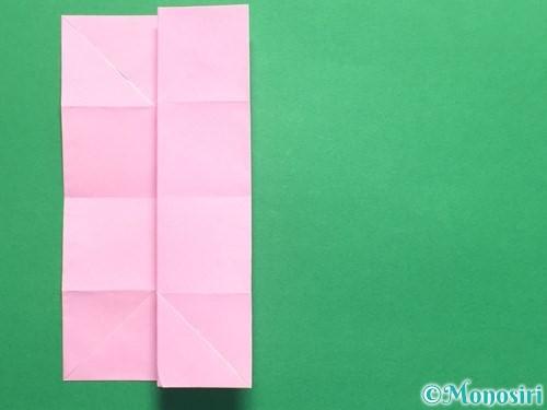 折り紙で立体的なバラの作り方手順18