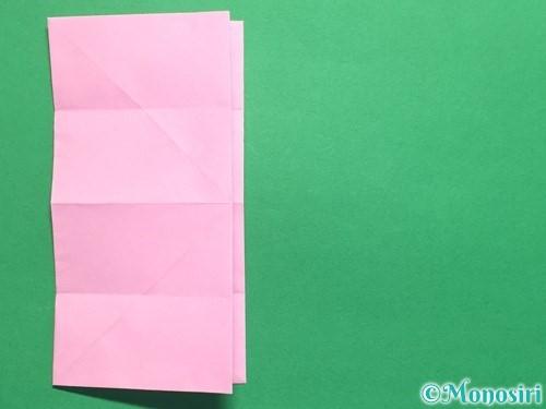 折り紙で立体的なバラの作り方手順19