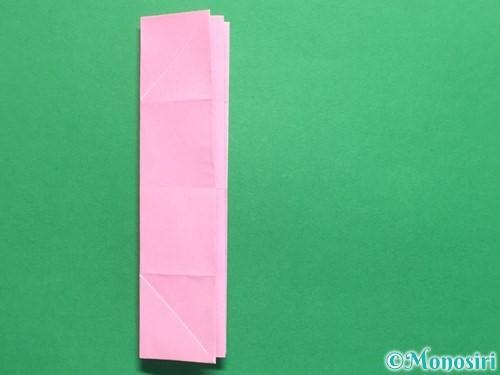 折り紙で立体的なバラの作り方手順21