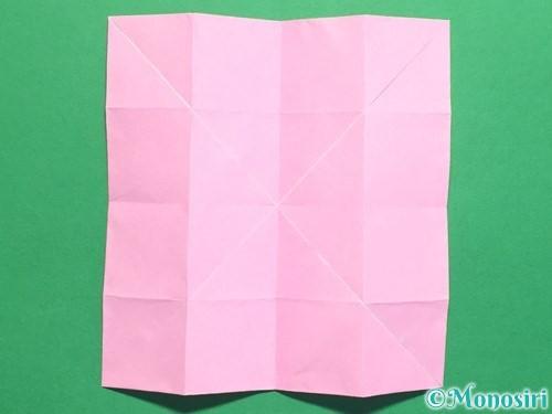 折り紙で立体的なバラの作り方手順24