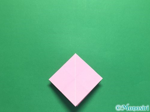 折り紙で立体的なバラの作り方手順27