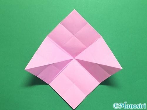 折り紙で立体的なバラの作り方手順28