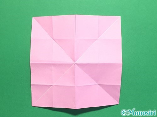 折り紙で立体的なバラの作り方手順29