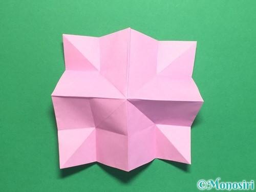 折り紙で立体的なバラの作り方手順30