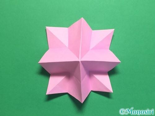折り紙で立体的なバラの作り方手順31