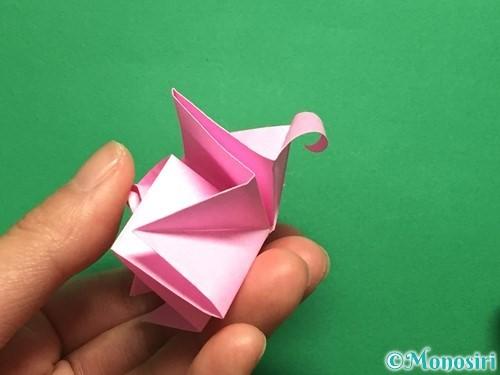 折り紙で立体的なバラの作り方手順40