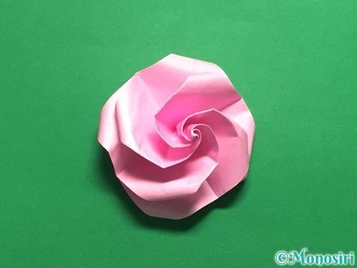 折り紙で立体的なバラの作り方手順43