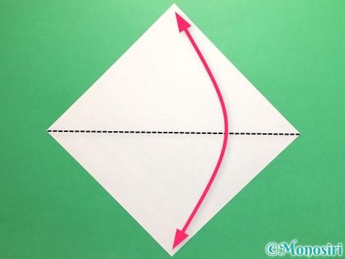 折り紙でネクタイの折り方手順1
