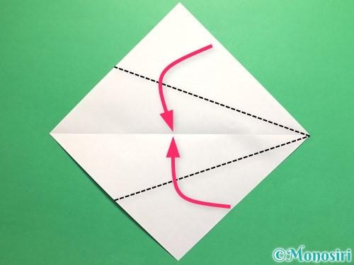 折り紙でネクタイの折り方手順3