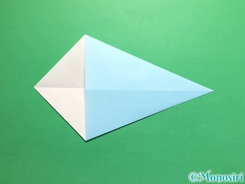 折り紙でネクタイの折り方手順4