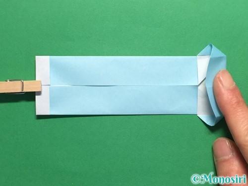 折り紙でポロシャツの折り方手順17
