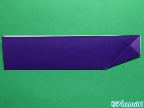 折り紙でネクタイ付のYシャツの折り方手順10