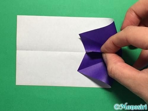 折り紙でネクタイ付のYシャツの折り方手順15