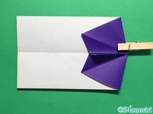 折り紙でネクタイ付のYシャツの折り方手順16