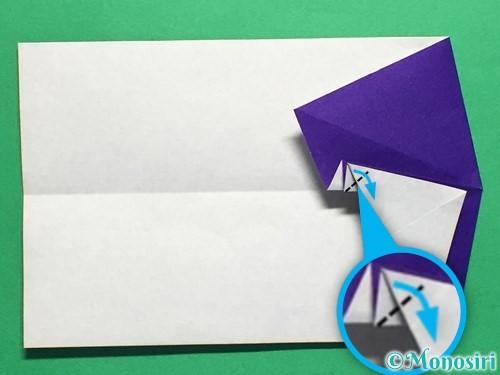 折り紙でネクタイ付のYシャツの折り方手順24