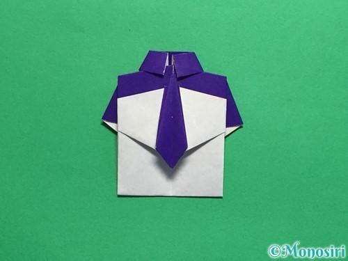 折り紙でネクタイ付のYシャツの折り方手順45