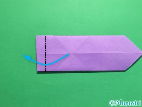 折り紙でネクタイの折り方手順12