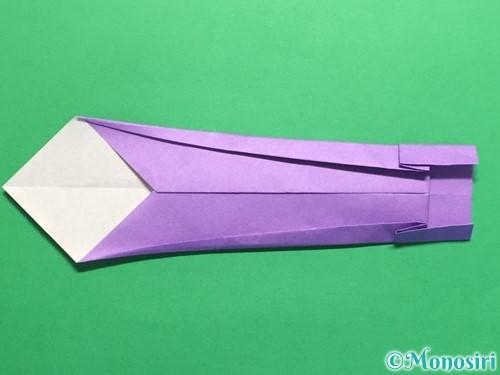 折り紙でネクタイの折り方手順15