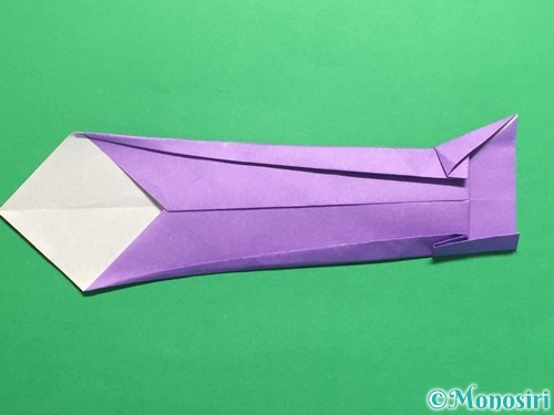 折り紙でネクタイの折り方手順17