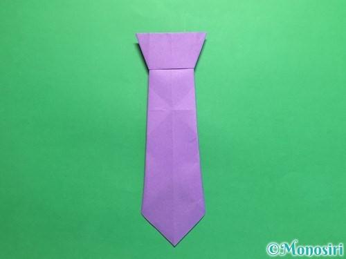 折り紙でネクタイの折り方手順19