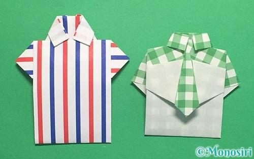 折り紙で折ったシャツ
