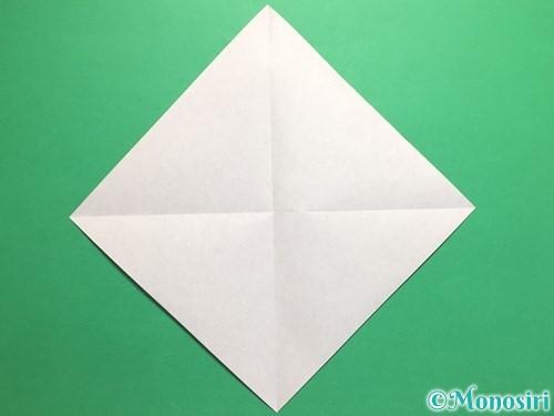 折り紙で腕時計の折り方手順2