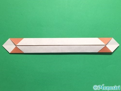 折り紙で腕時計の折り方手順18