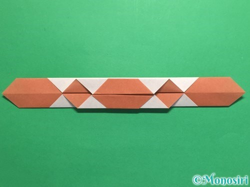 折り紙で腕時計の折り方手順19