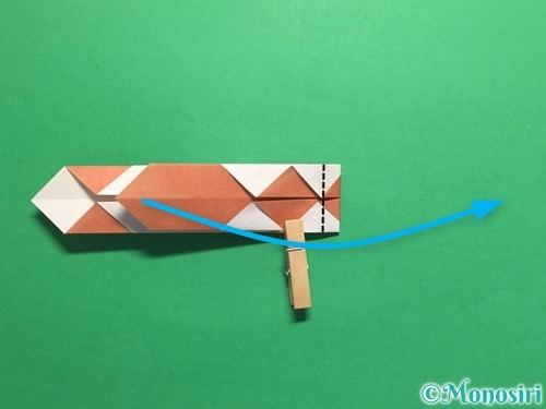 折り紙で腕時計の折り方手順23