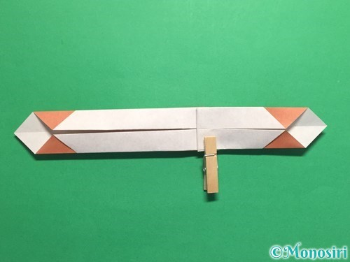 折り紙で腕時計の折り方手順24