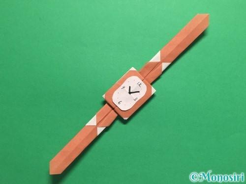 折り紙で腕時計の折り方手順31
