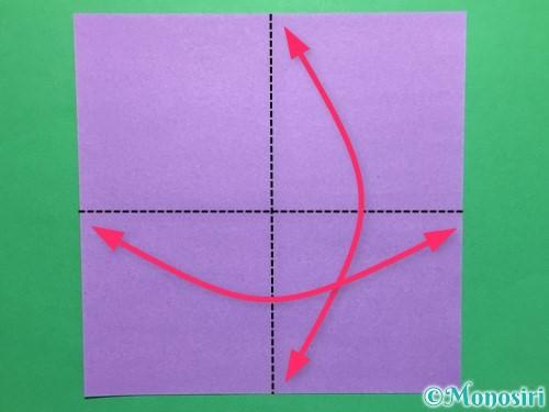 折り紙で簡単なあじさいの折り方手順1
