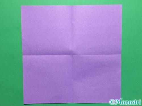 折り紙で簡単なあじさいの折り方手順2