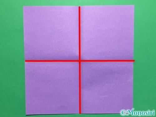 折り紙で簡単なあじさいの折り方手順3