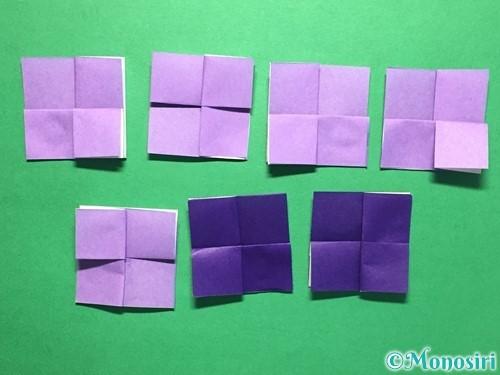 折り紙で簡単なあじさいの折り方手順14