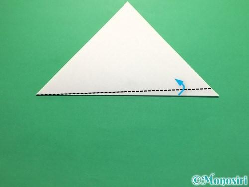 折り紙で簡単なあじさいの折り方手順17