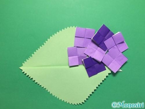 折り紙で簡単なあじさいの折り方手順24