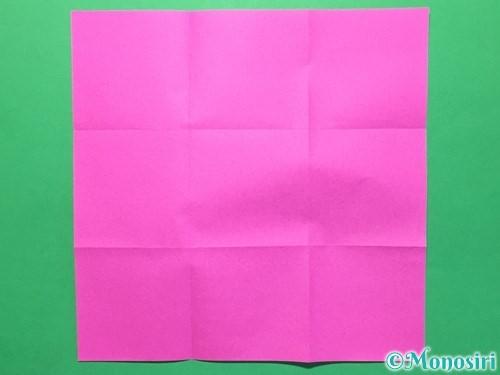 折り紙で立体的な紫陽花の作り方手順2