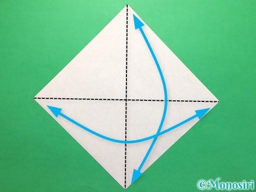 折り紙で立体的な紫陽花の作り方手順4