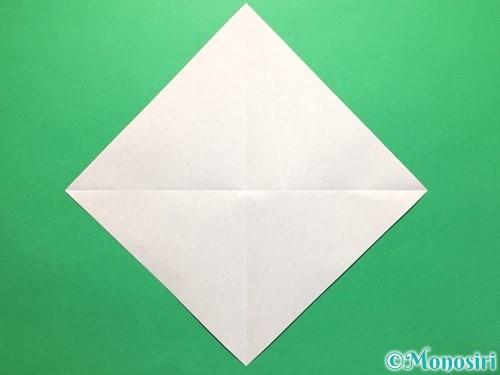 折り紙で立体的な紫陽花の作り方手順5