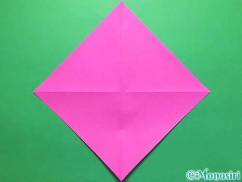 折り紙で立体的な紫陽花の作り方手順6