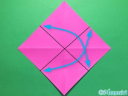 折り紙で立体的な紫陽花の作り方手順7