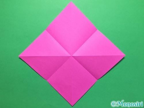 折り紙で立体的な紫陽花の作り方手順8