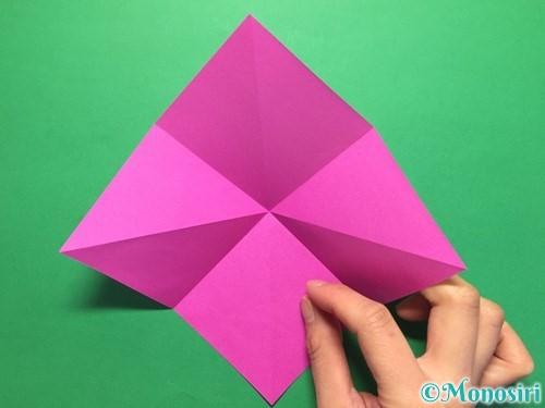 折り紙で立体的な紫陽花の作り方手順9
