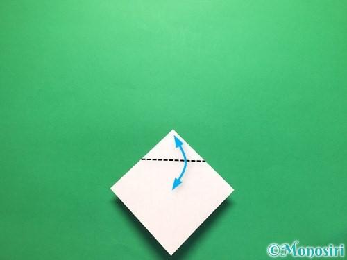折り紙で立体的な紫陽花の作り方手順12