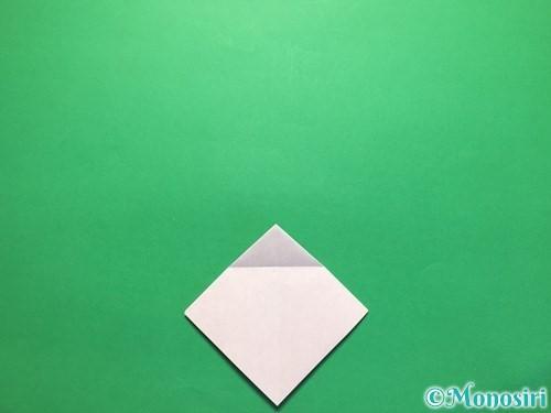 折り紙で立体的な紫陽花の作り方手順13