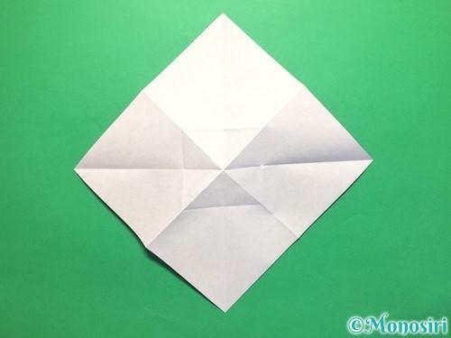 折り紙で立体的な紫陽花の作り方手順14