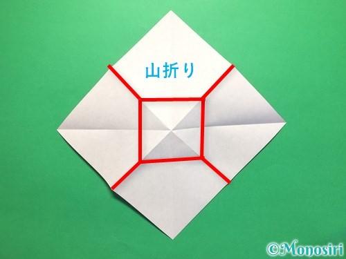折り紙で立体的な紫陽花の作り方手順15