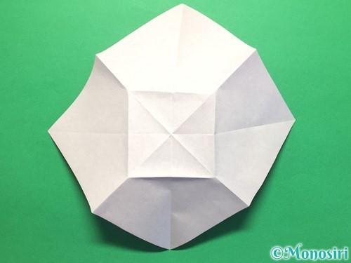 折り紙で立体的な紫陽花の作り方手順16